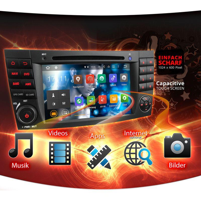 XOMAX XM-05ZA: 2DIN Navi Autoradio mit Android 5.1, 7 Zoll Touchscreen Monitor, Bluetooth, DVD, CD, SD und USB (B-Ware) – Bild 4