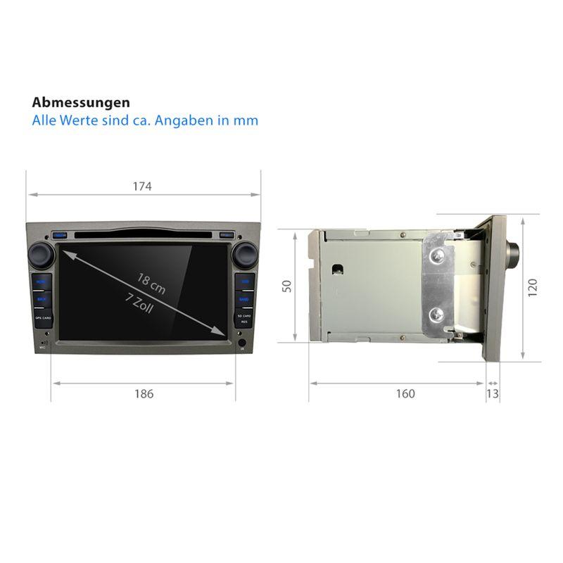 XOMAX XM-2DA704: 2DIN Navi Autoradio mit Android 6.0.1, 7 Zoll Touchscreen Monitor, Bluetooth, SD und USB (B-Ware) – Bild 9