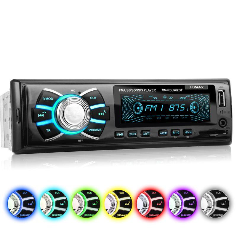 XOMAX XM-RSU262BT USB SD Autoradio ohne CD-Laufwerk und Bluetooth-Freisprecheinrichtung – Bild 1