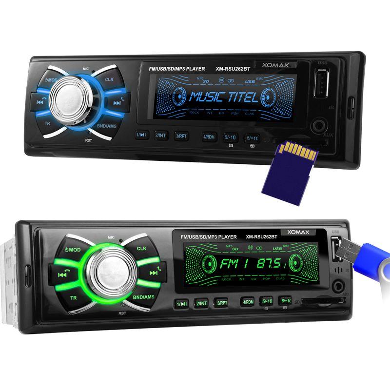 XOMAX XM-RSU262BT USB SD Autoradio ohne CD-Laufwerk und Bluetooth-Freisprecheinrichtung – Bild 3