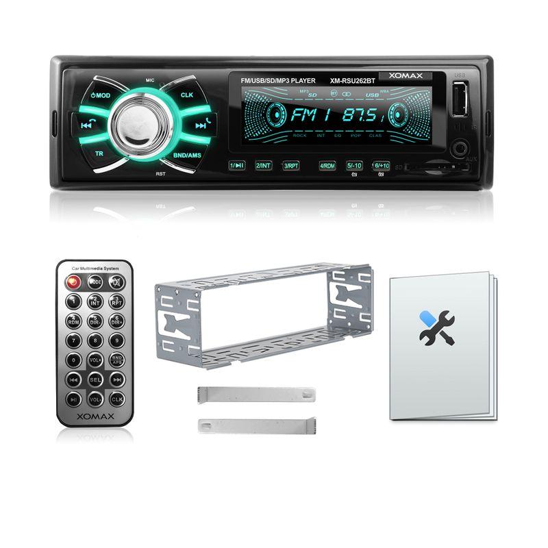 XOMAX XM-RSU262BT USB SD Autoradio ohne CD-Laufwerk und Bluetooth-Freisprecheinrichtung (B-Ware) – Bild 5