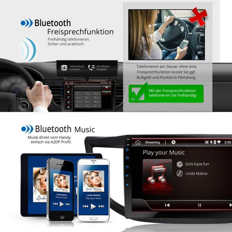 XOMAX XM-10HC: Navi Autoradio mit Android 7.1.1, passend für HONDA CR-V (inkl. Rahmen) (B-Ware) – Bild 4