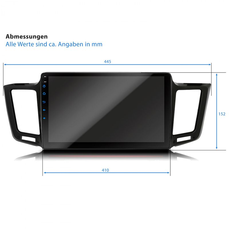 XOMAX XM-10TYR: Navi Autoradio mit Android 7.1.1 passend für TOYOTA RAV4 (inkl. Rahmen) – Bild 3