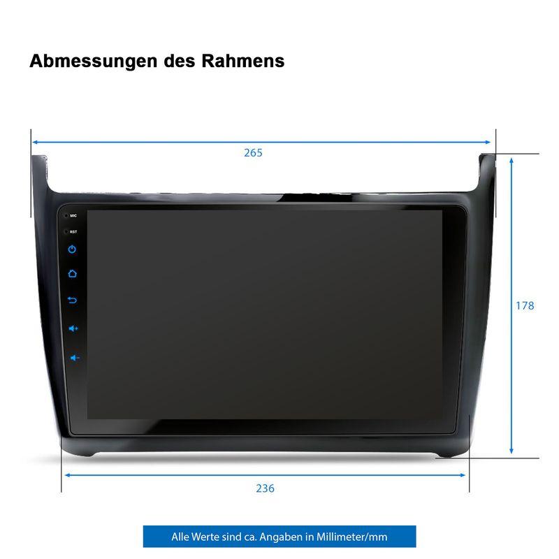 XOMAX XM-9GP: Navi Autoradio mit Android 10 passend für VW GOLF POLO (inkl. Rahmen) – Bild 6
