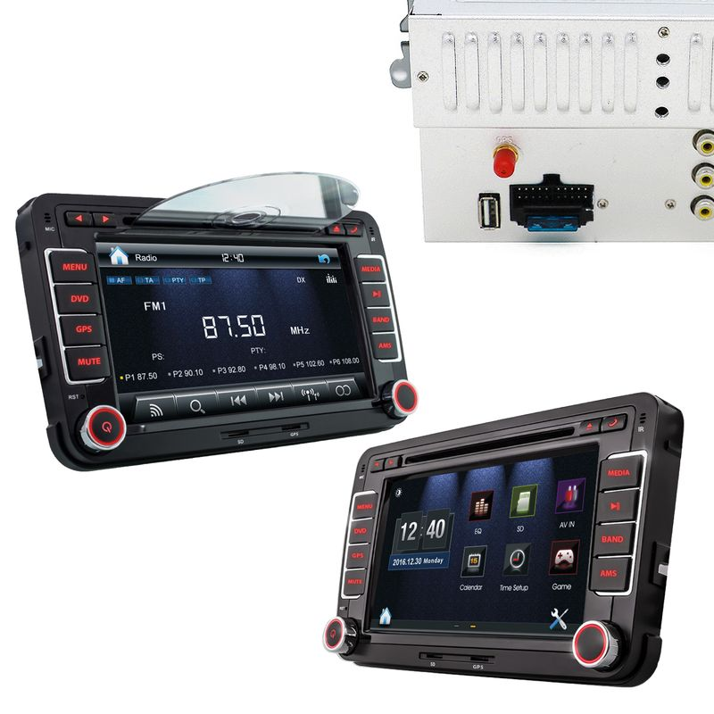 XOMAX XM-2DN705: 2DIN Autoradio mit Navigation und Bluetooth (Autoradio passend für Volkswagen, Seat, Skoda) (B-Ware) – Bild 3