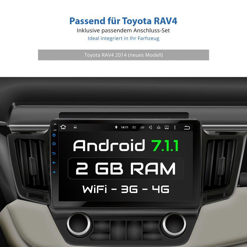 XOMAX XM-10TYR: Navi Autoradio mit Android 7.1.1 passend für TOYOTA RAV4 (inkl. Rahmen) (B-Ware) – Bild 8
