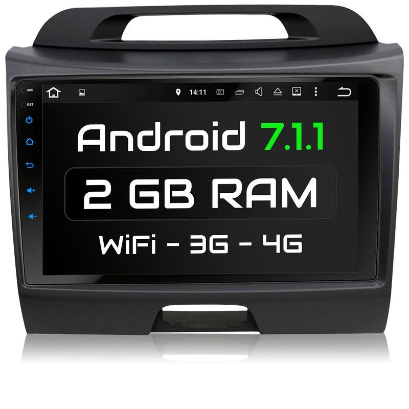 XOMAX XM-9KSPRT: Autoradio mit Android 7.1.1 passend für KIA SPORTAGE TYP SL Navi  inkl. passenden Rahmen (B-Ware)
