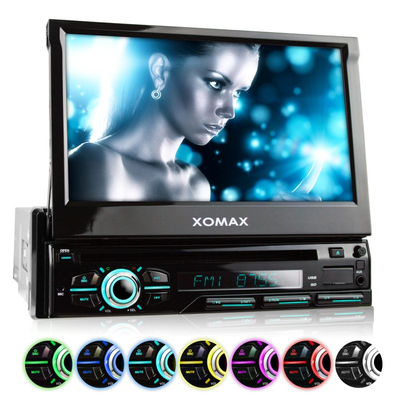 "XOMAX XM-DTSB928 18cm/7"" DVD-Moniceiver USB SD BLUETOOTH v2 (B-Ware) – Bild 1"