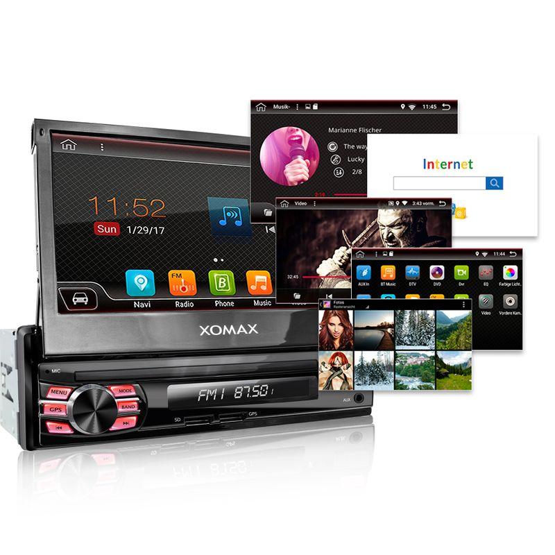 XOMAX XM-VA707: 1DIN Android 7.1.1 Navi Autoradio mit 7 Zoll Touchscreen Monitor, Bluetooth, SD und USB (B-Ware) – Bild 4