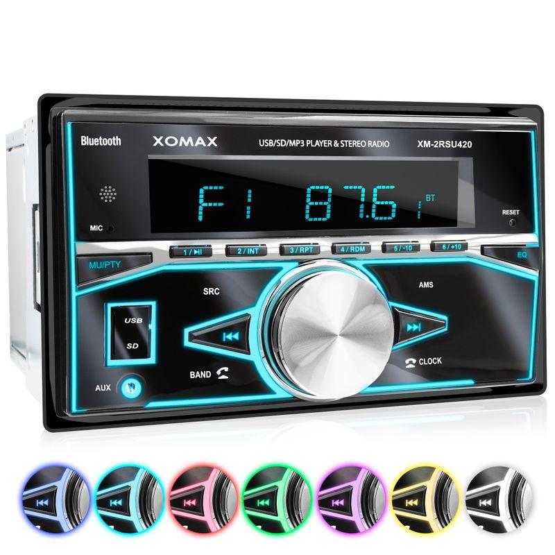 XOMAX XM-2RSU420 FlashXO USB SD Autoradio ohne CD-Laufwerk – Bild 1