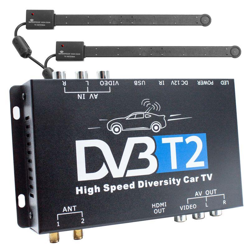 XOMAX XM-DVBT2-01 AUTO DVB-T2 Receiver 12V / 24V – Bild 1