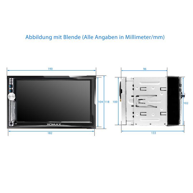 XOMAX XM-2VA706: 2DIN Autoradio mit Android 7.1.1. Navi 7 Zoll Touchscreen Monitor, Bluetooth, Micro SD und USB  – Bild 7