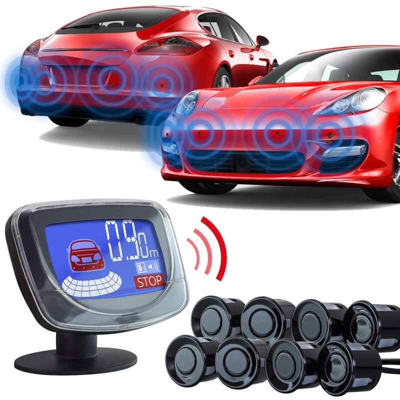 XOMAX XM-PS02 Park-Sensoren Premium Kit mit Bildschirm und Tonausgabe (8-er Pack) – Bild 1