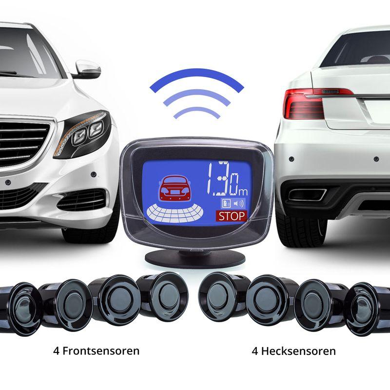 XOMAX XM-PS02 Park-Sensoren Premium Kit mit Bildschirm und Tonausgabe (8-er Pack) – Bild 2