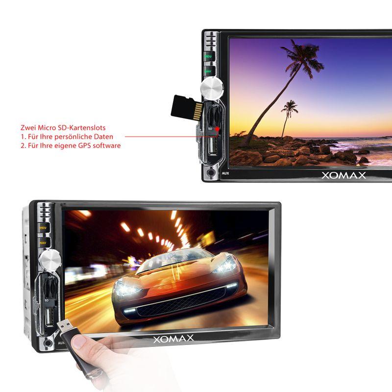 XOMAX XM-2VA706: 2DIN Autoradio mit Android 7.1.1. Navi 7 Zoll Touchscreen Monitor, Bluetooth, Micro SD und USB  – Bild 5