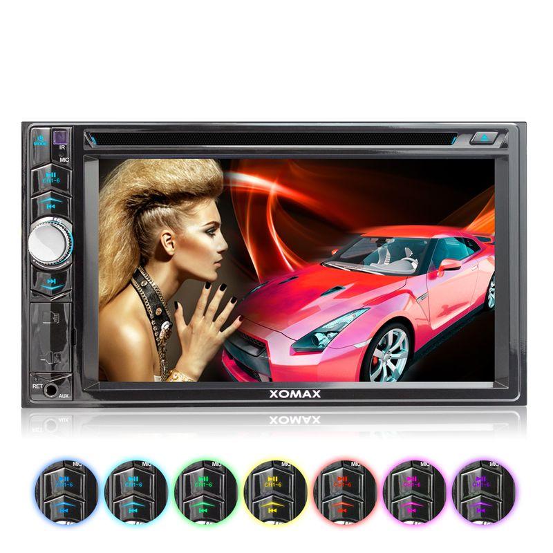 XOMAX XM-2D6224: 2DIN Autoradio mit 6,2 Zoll Touchscreen Monitor, Bluetooth, DVD-Laufwerk, Micro SD und USB (B-Ware) – Bild 2