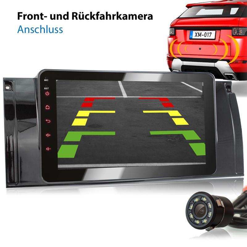 XOMAX XM-39BA: 2DIN Autoradio mit Android 8.1 Navi 7 Zoll Touchscreen Monitor, Bluetooth, USB (passend für BMW E39, E53 X5 und M5)  – Bild 4