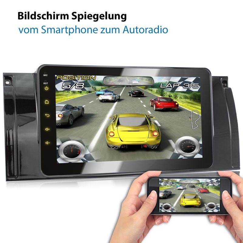XOMAX XM-39BA: 2DIN Autoradio mit Android 8.1 Navi 8 Zoll Touchscreen Monitor, Bluetooth, USB (passend für BMW E39, E53 X5 und M5)  – Bild 5
