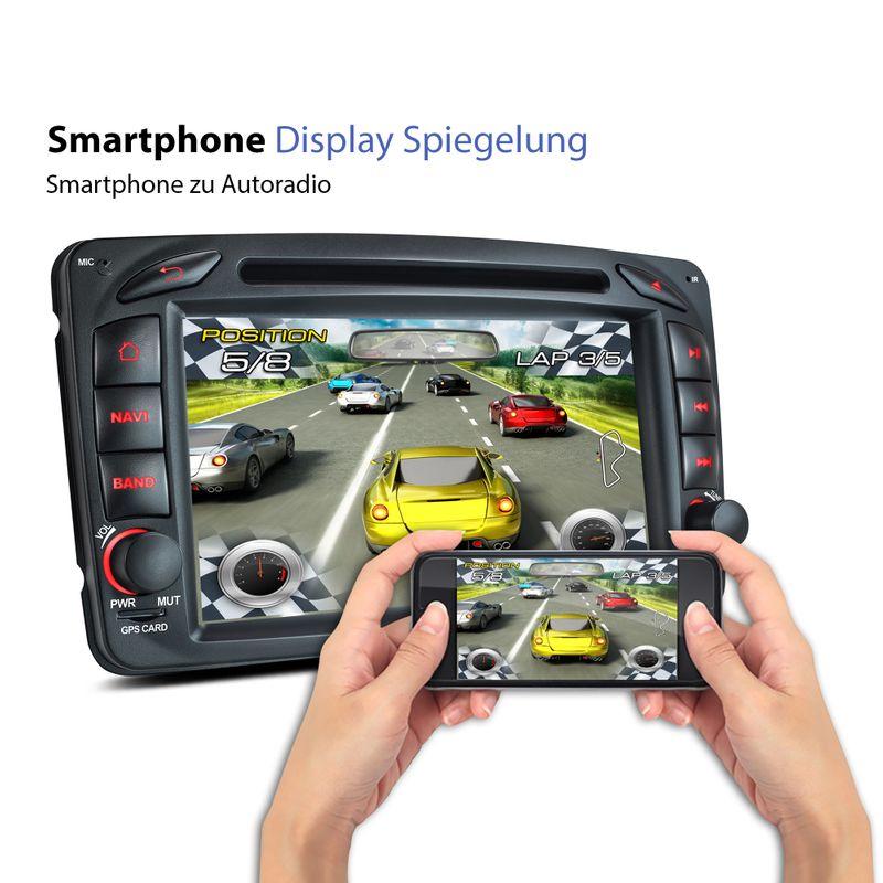 XOMAX XM-04ZA: 2DIN Navi Autoradio mit Android 6.0.1, 7 Zoll Touchscreen Monitor, Bluetooth, SD und USB (B-Ware) – Bild 6