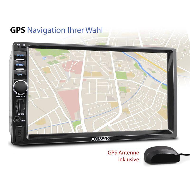 XOMAX XM-2VRSUA744: 2DIN Android 6.0.1 Navi Autoradio mit 7 Zoll Touchscreen Monitor, Bluetooth, SD und USB (B-Ware)  – Bild 4