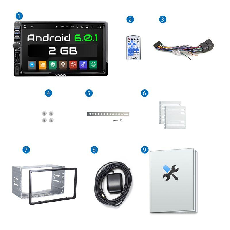 XOMAX XM-2VRSUA744: 2DIN Android 6.0.1 Navi Autoradio mit 7 Zoll Touchscreen Monitor, Bluetooth, SD und USB (B-Ware)  – Bild 10