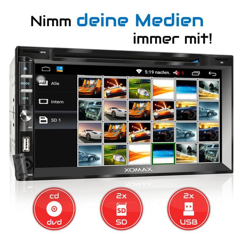 XOMAX XM-2DDA6902: 2DIN Autoradio mit  Android 6.0.1 Navi 7 Zoll Touchscreen Monitor, Bluetooth, DAB, DVD, CD, SD und USB  – Bild 9