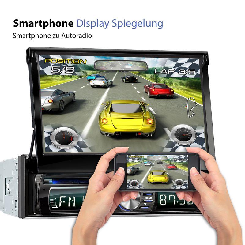 XOMAX XM-DDA711: 1DIN Autoradio mit Android 6.0.1 Navi 7 Zoll Touchscreen Monitor, Bluetooth, DAB+, DVD, CD, SD und USB – Bild 6
