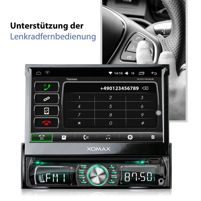 XOMAX XM-DDA711: 1DIN Autoradio mit Android 6.0.1 Navi 7 Zoll Touchscreen Monitor, Bluetooth, DAB+, DVD, CD, SD und USB – Bild 9