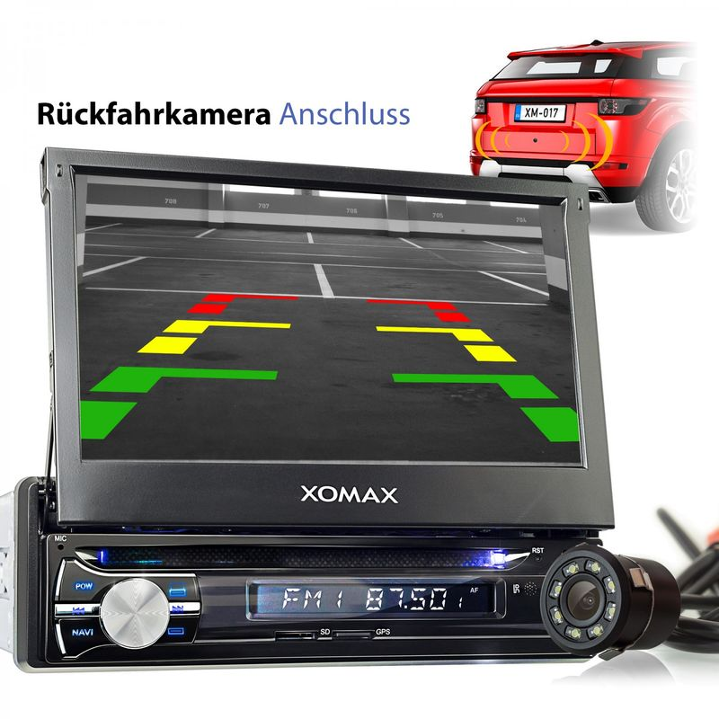 XOMAX XM-DA712: 1DIN Autoradio mit Android 6.0.1 Navi  7 Zoll Touchscreen Monitor, Bluetooth, DVD, SD und USB – Bild 8