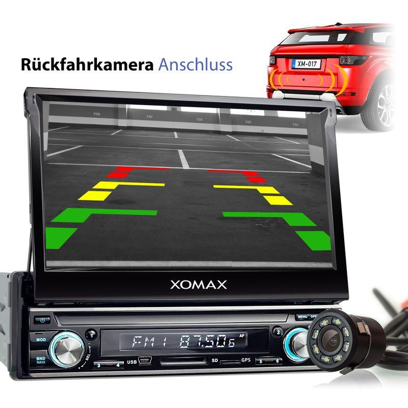 XOMAX XM-VDA713: 1DIN Autoradio mit Android 6.0.1 Navi 7 Zoll Touchscreen Monitor, Bluetooth, DAB+ integriert, SD und USB – Bild 8