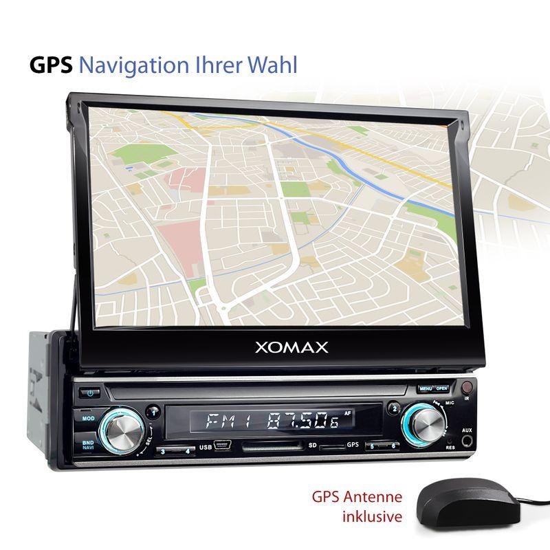 XOMAX XM-VDA713: 1DIN Android 6.0.1 Navi Autoradio mit 7 Zoll Touchscreen Monitor, Bluetooth, DAB, SD und USB (B-Ware) – Bild 4