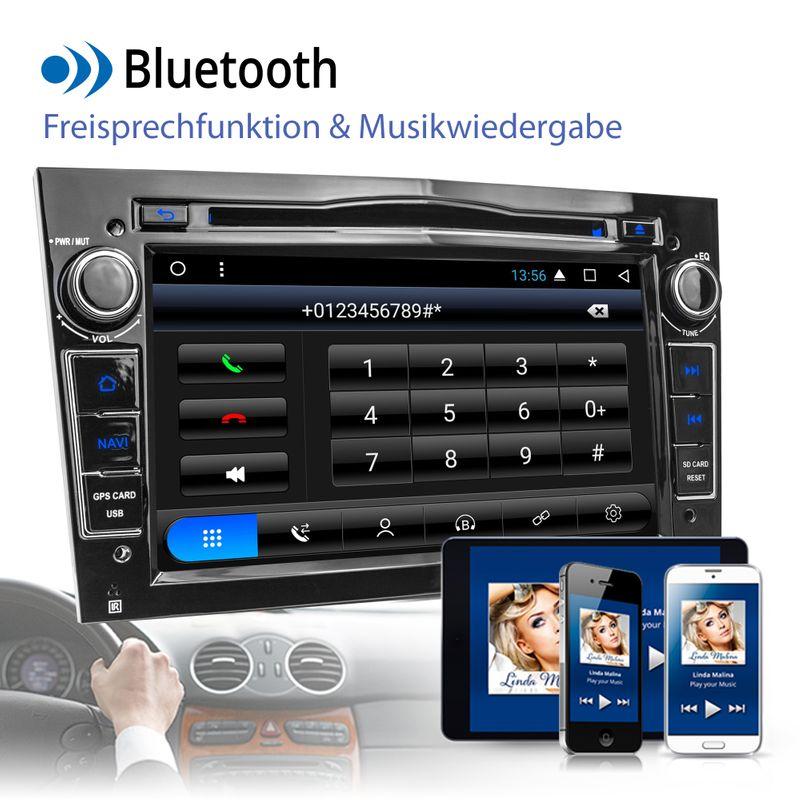 XOMAX XM-2DA703 A6: Navi Autoradio mit Android 6.0.1, 7 Zoll Touchscreen Monitor, Bluetooth, SD und USB  – Bild 4