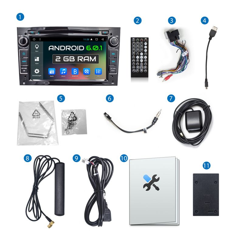 XOMAX XM-2DA703 A6: Navi Autoradio mit Android 6.0.1, 7 Zoll Touchscreen Monitor, Bluetooth, SD und USB  – Bild 9
