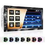 "XOMAX XM-2D6904 2DIN Autoradio mit 6,95"" kapazitivem Touchscreen Monitor, DVD-Laufwerk, Micro SD und USB 001"