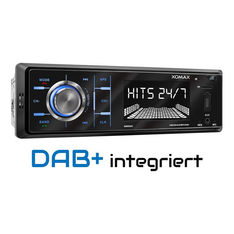 XOMAX XM-RD263: 1DIN, Autoradio mit DAB+, Bluettoth, FlashXO, USB, AUX IN, ohne Laufwerk – Bild 1