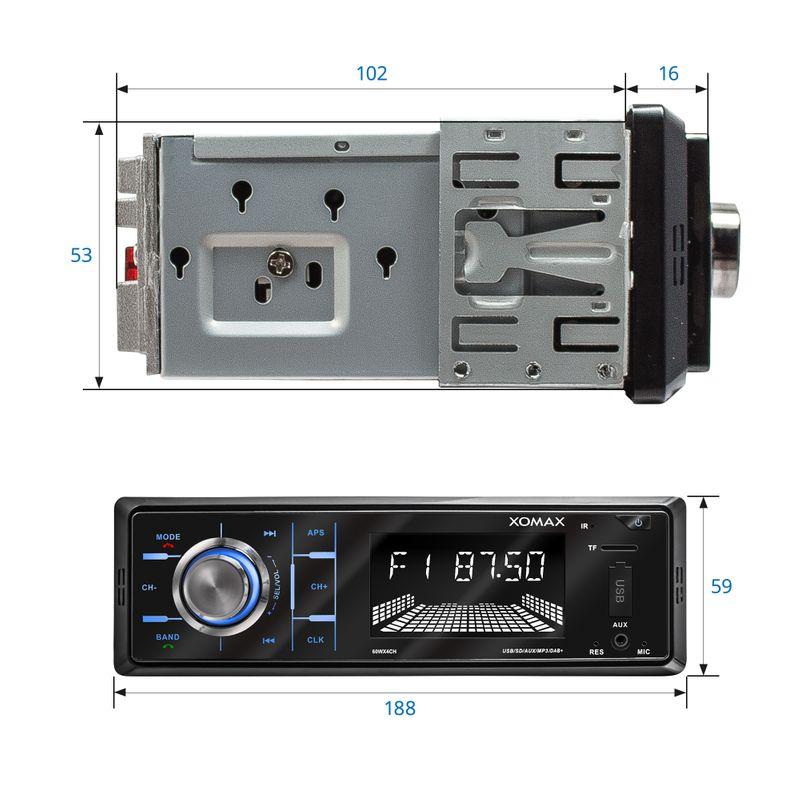 XOMAX XM-RD263: 1DIN, Autoradio mit DAB+, Bluettoth, FlashXO, USB, AUX IN, ohne Laufwerk – Bild 6
