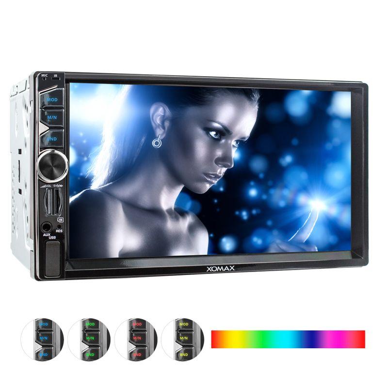 XOMAX XM-2V717: 2DIN Autoradio mit 7 Zoll Touchscreen Monitor, Bluetooth, SD und USB  – Bild 1
