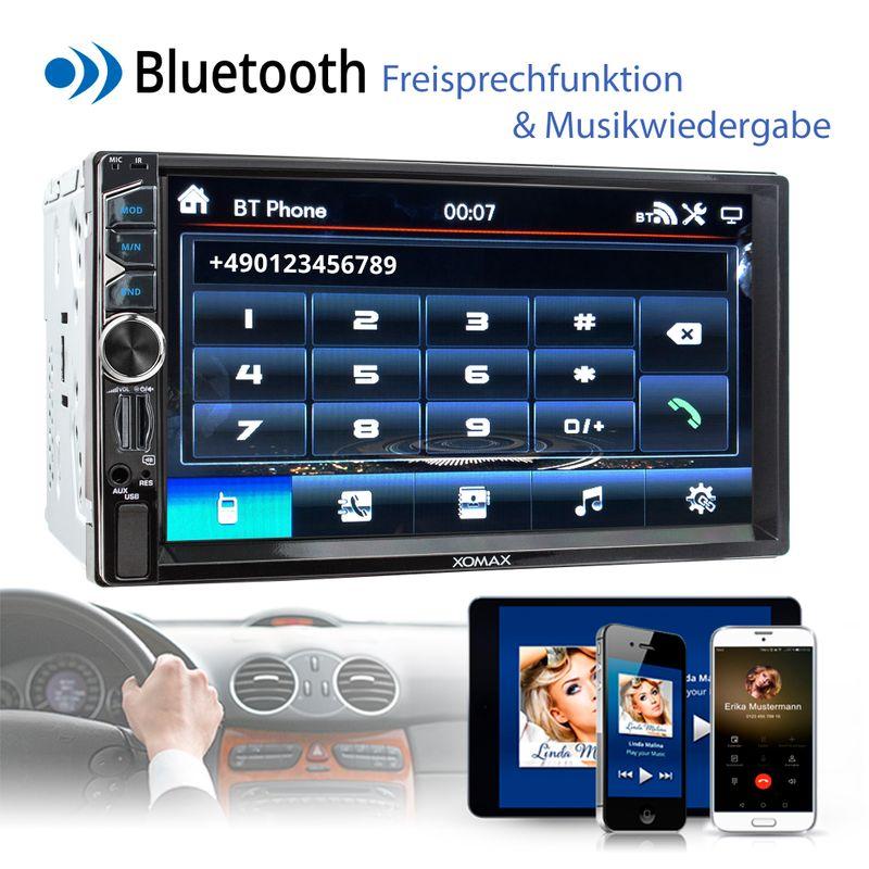 XOMAX XM-2V717: 2DIN Autoradio mit 7 Zoll Touchscreen Monitor, Bluetooth, SD und USB  – Bild 4