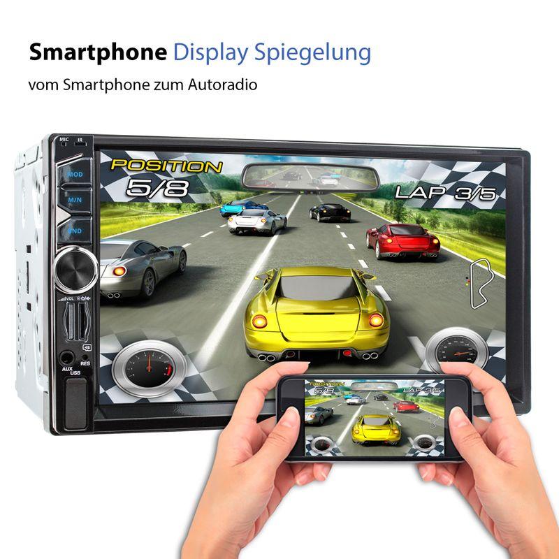 XOMAX XM-2V717: 2DIN Autoradio mit 7 Zoll Touchscreen Monitor, Bluetooth, SD und USB  – Bild 5