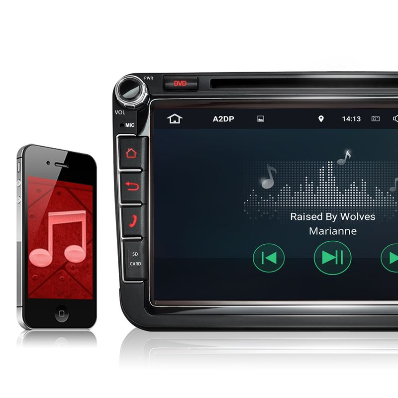 XOMAX XM-2DA801 L2 AUTORADIO MIT ANDROID 7.1.1 PASSEND FÜR VW SKODA SEAT NAVIGATION DVD USB SD (B-Ware) – Bild 5