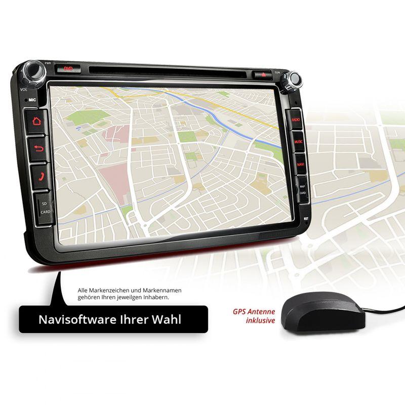 XOMAX XM-2DA801 L2 AUTORADIO MIT ANDROID 7.1.1 PASSEND FÜR VW SKODA SEAT NAVIGATION DVD USB SD (B-Ware) – Bild 2
