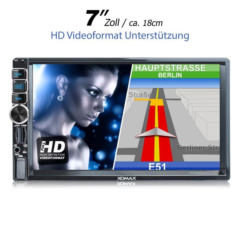 XOMAX XM-2VN716 2DIN Navi Autoradio mit GPS, USB, SD und BLUETOOTH (B-Ware) – Bild 2