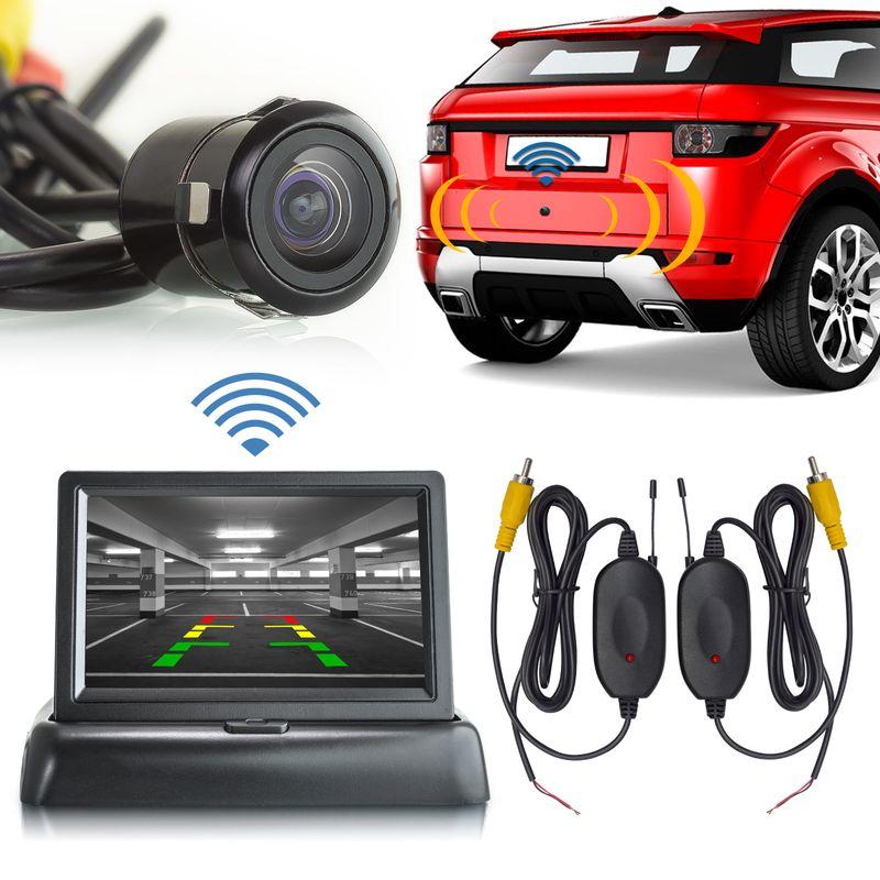 "XM-RWB017: Einparkhilfe-Set aus Rückfahrkamera, 4,3"" Monitor und wireless Transmitter  – Bild 1"