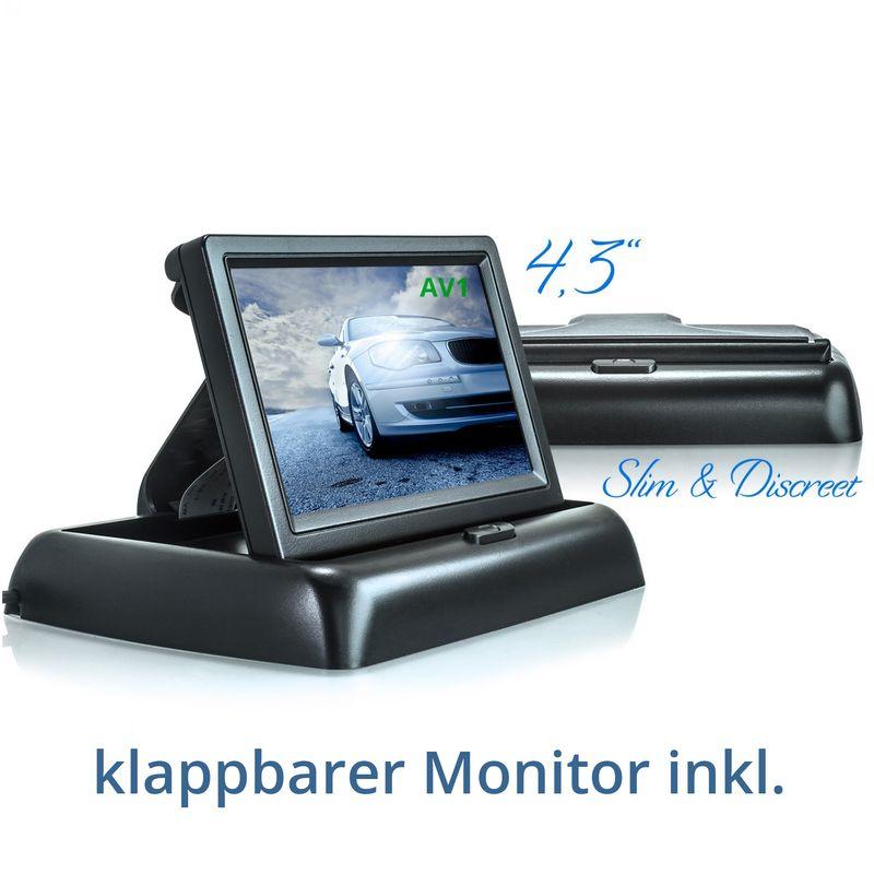 "XM-RWB017: Einparkhilfe-Set aus Rückfahrkamera, 4,3"" Monitor und wireless Transmitter  – Bild 2"