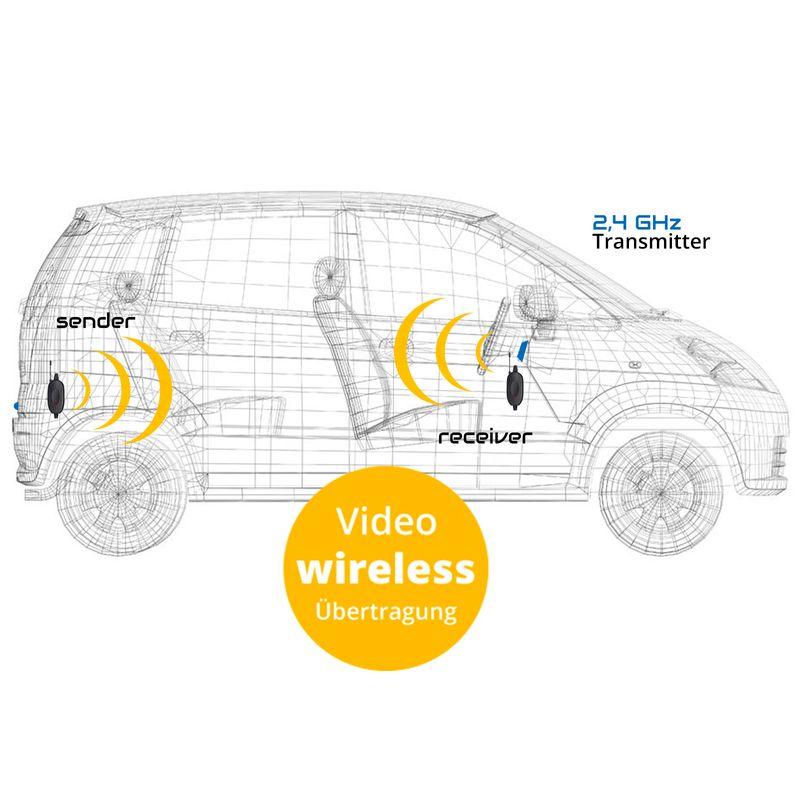 "XM-RWB014: Einparkhilfe-Set aus Rückfahrkamera, 4,3"" Monitor und wireless Transmitter  – Bild 3"
