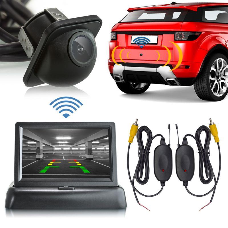 "XM-RWB012: Einparkhilfe-Set aus Rückfahrkamera, 4,3"" Monitor und wireless Transmitter  – Bild 2"