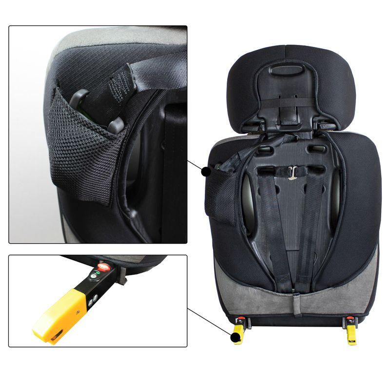 XL-518-Rot Auto Kindersitz / Sitzerhöhung (Rot/Schwarz/Grau) für Kinder von 9 - 36 kg (Klasse I, II, III) mit ISOFIX (B-Ware) – Bild 7