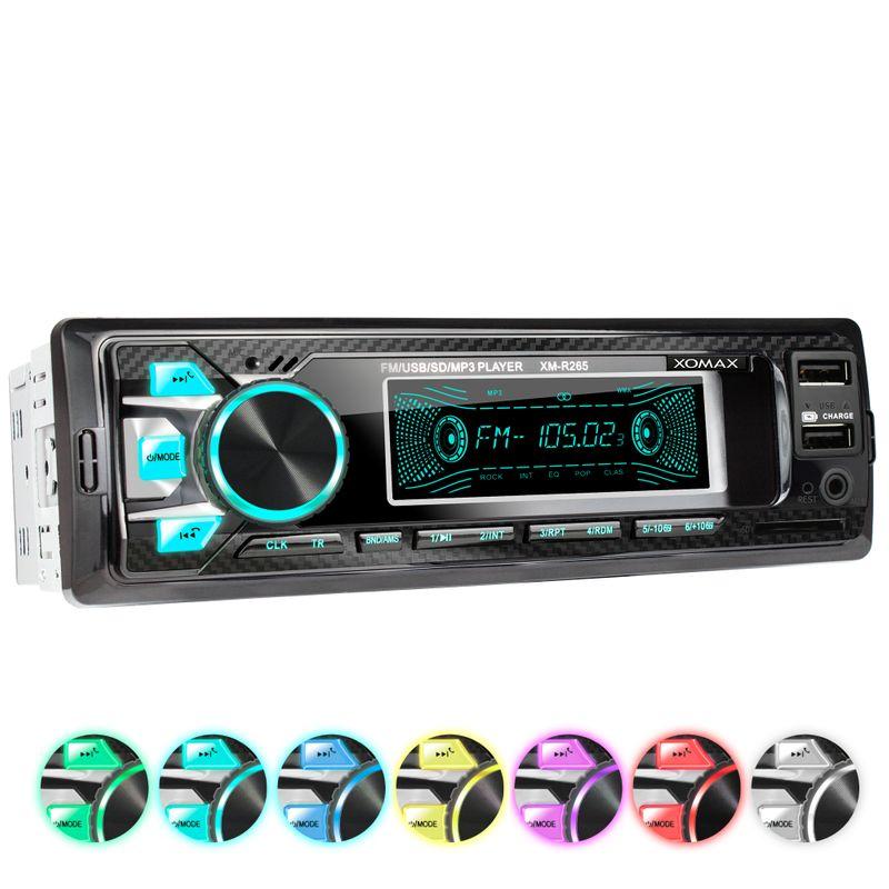 XOMAX XM-R265: 1DIN, Autoradio mit Bluettoth, USB, AUX IN, ohne Laufwerk – Bild 1