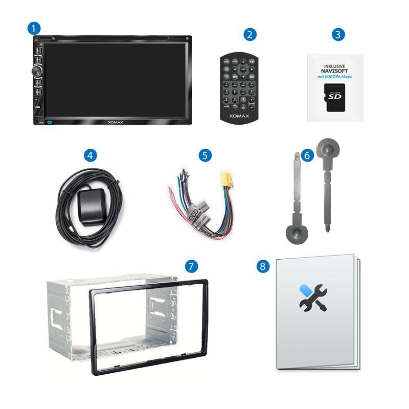 """XOMAX XM-2DN6906 2DIN Autoradio mit 6,95"""" kapazitivem Touchscreen Monitor, DVD-Laufwerk, Micro SD und USB – Bild 10"""