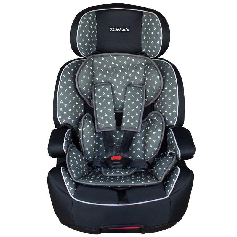 XL-518-Grau Auto Kindersitz / Sitzerhöhung (Schwarz/Grau) für Kinder von 9 - 36 kg (Klasse I, II, III) mit ISOFIX